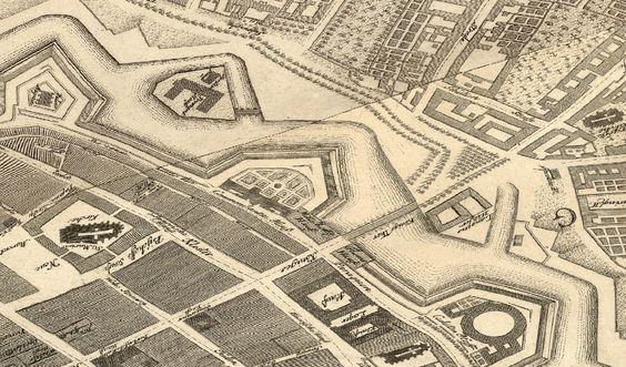 1748 Umgebung von der Königsbrücke (von Neue Markt bis Alexander Platz), zwischen die Stadtteile Alt-Berlin und Königsviertel.