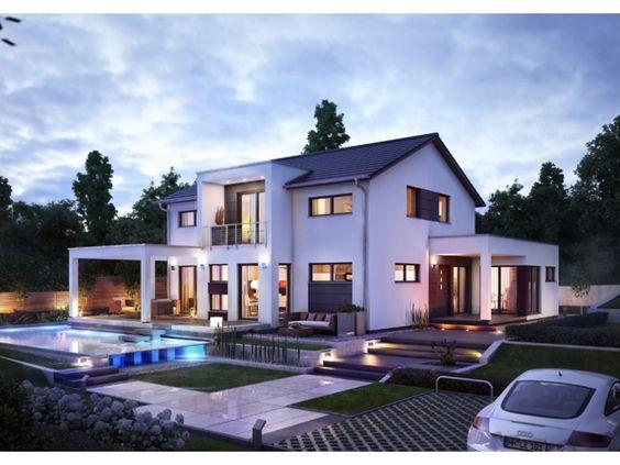 Fertighaus modern satteldach  Innovation R Musterhaus Bad Vilbel - #Einfamilienhaus von RENSCH ...