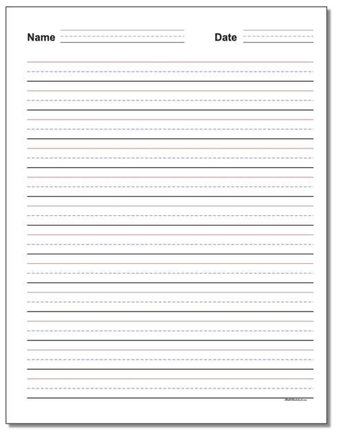 Free Printable Lined Paper For Handwriting Practice Planes Balloons Let S Make Learning Fun Handwriting Worksheets For Kids Handwriting Practice Kindergarten Handwriting Paper Kindergarten