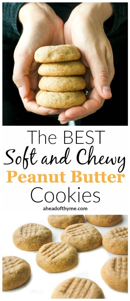 The Best Soft and Chewy Peanut Butter Cookies