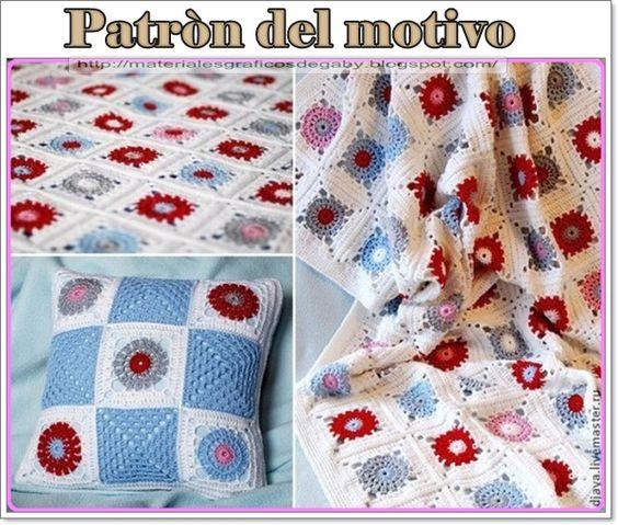 Materiales gráficos Gaby: Patròn de granny para mantas y cojines en ganchillo