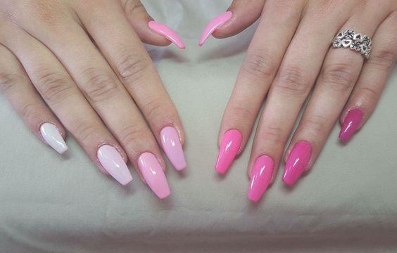 #nails #pink #palette #ballerinanails