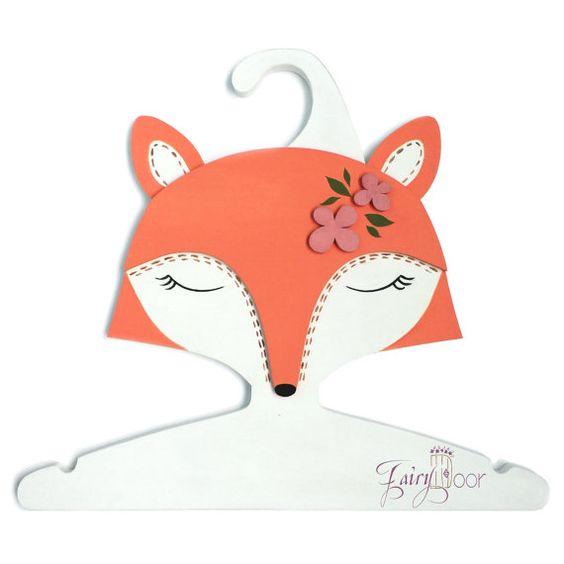 Kinder Kleiderbügel 3D geformte Hand made - Fox