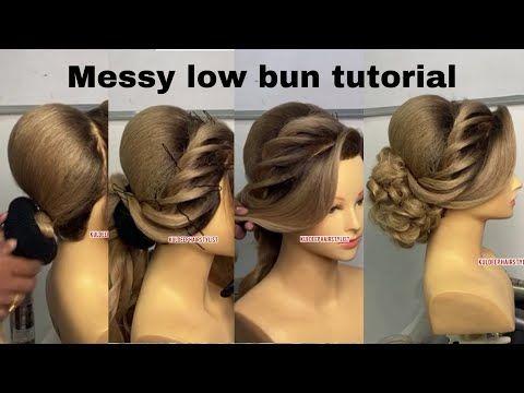 Messy Bun Hairstyle Tutorial For Beginners By Kuldeep Hairstylist Youtube Hair Bun Tutorial Bun Hairstyles Bun Hairstyles For Long Hair