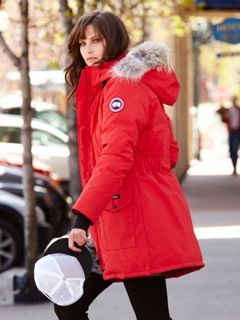 Love My Red Canada Goose Trillium Parka Style