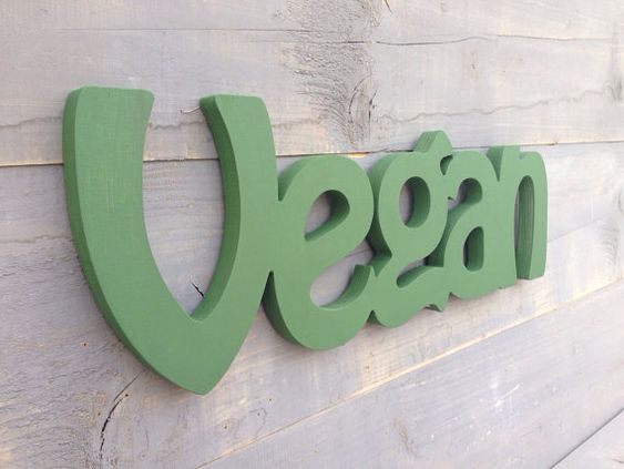 Vegan wood sign wall art and home decor