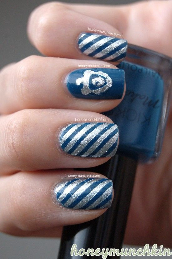 Ravenclaw Nails by HoneyMunchkin