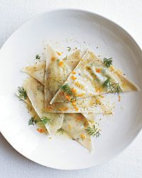 Goat Cheese Ravioli with Orange and Fennel Recipe from Food & Wine