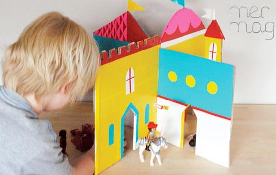 Cómo hacer un castillo con cartón: Diy Dollhouse, Cardboard Castle, Diy Cardboard, Dollhouses Kidsomania, Doll Houses, Craft Ideas