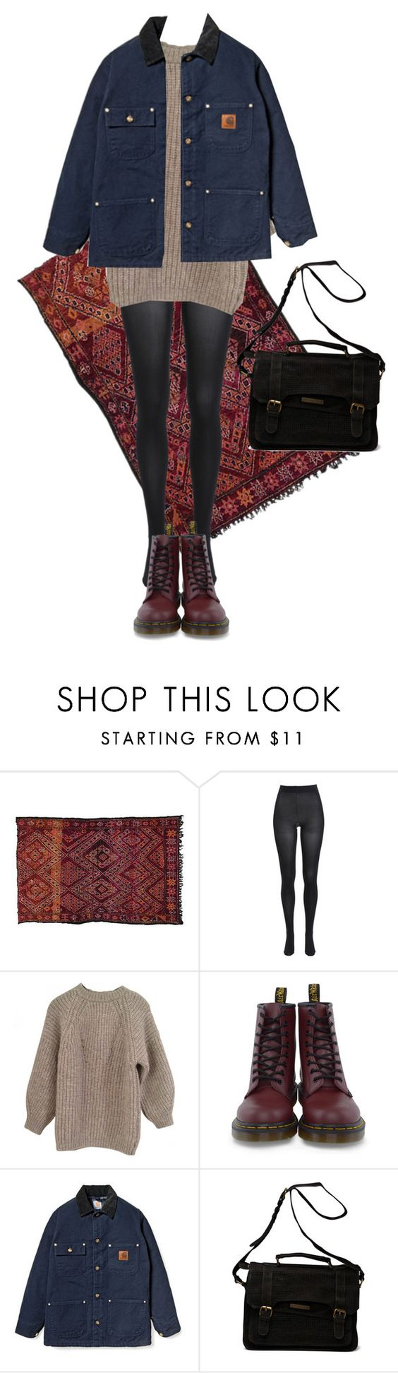 """""""Untitled #166"""" by borninthe1990s ❤ liked on Polyvore featuring Bardot, Étoile Isabel Marant, Dr. Martens, Carhartt and Friis & Company"""