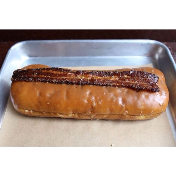 Long johns, Bacon and Maple bacon on Pinterest
