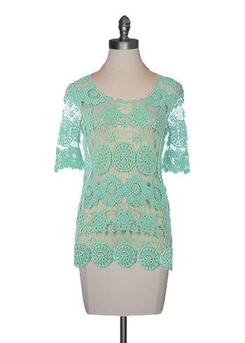 Mint Crochet Tunic
