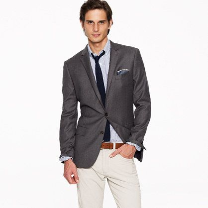 Ludlow two-button blazer with double-vented back