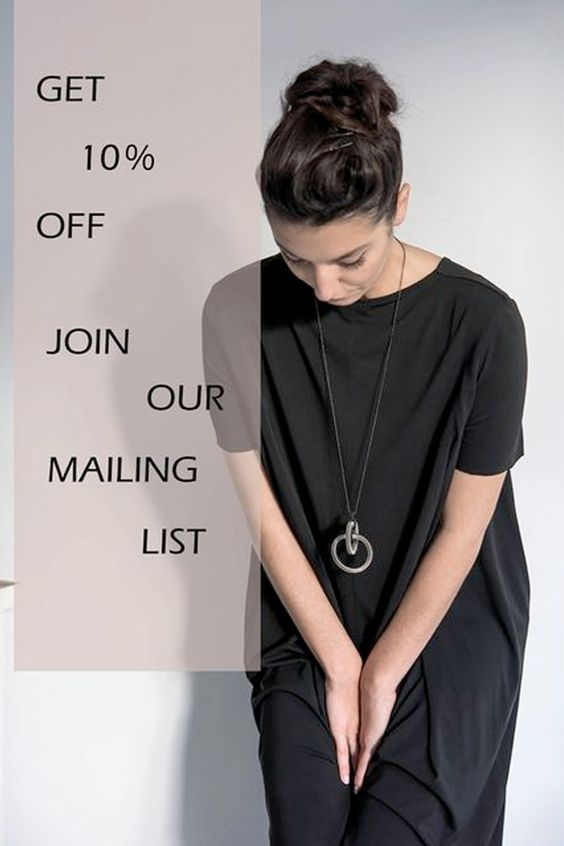 LOVE MODERN JEWELLERY? Sign up to our mailing list here: www.industrial-je... and be the first to hear about new collections, sales and special offers as well as style tips and inspiration. Best of all? get 10% off your next order - just click the image to sign up now and we will email you your special discount code right away.