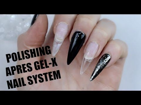 GEL POLISH DESIGN ON APRES GEL,X NAIL SYSTEM , YouTube