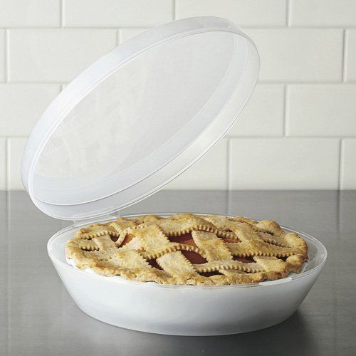 Stay Fresh 7108 Universal Pie Container: Holds pie pans of all sizes and has a tall clearance for those lofty meringues! Find it here $10.99 tinyurl.com/7er7zkv  #Pie_Keeper #Stay_Fresh_Universal_Pie_Container
