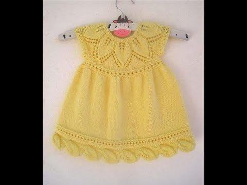 El Orgusu Kiz Cocuk Elbise Modelleri Youtube Baby Knitting Patterns Bebek Elbise Ogreticileri Bebek Elbise Modelleri