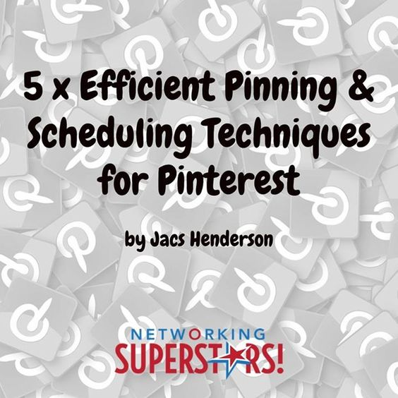NEW PINTEREST BLOG ...  Consider these 5 x Efficient Pinning & Scheduling Techniques for Pinterest to showcase all your Brand products services tools tutorials testimonials and value on Pinterest  Which one do you use?   Jacs