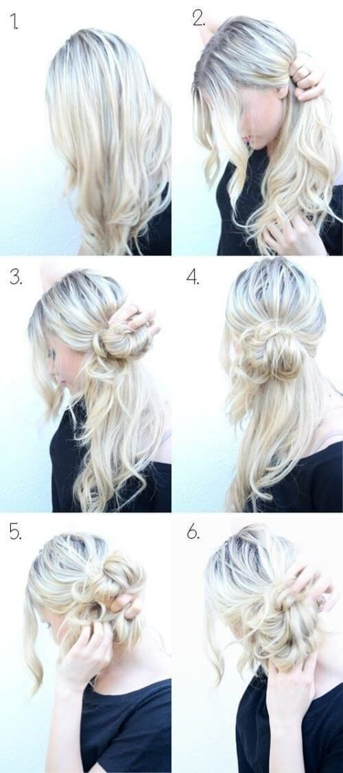 Step By Step Guide For Messy Side Bun Hairstyle Hair Styles Easy Updo Hairstyles Hair Bun Tutorial