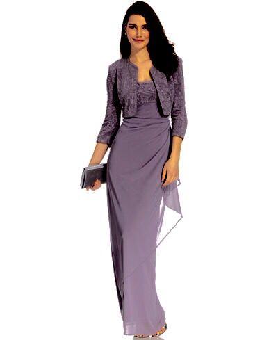 Pretty purple dress from Macy's.