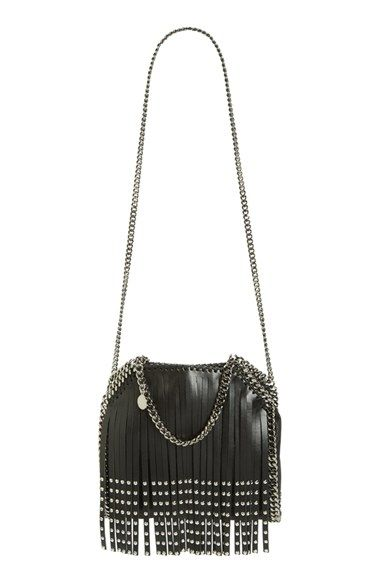 Stella McCartney Falabella Studded Fringe Shoulder Bag