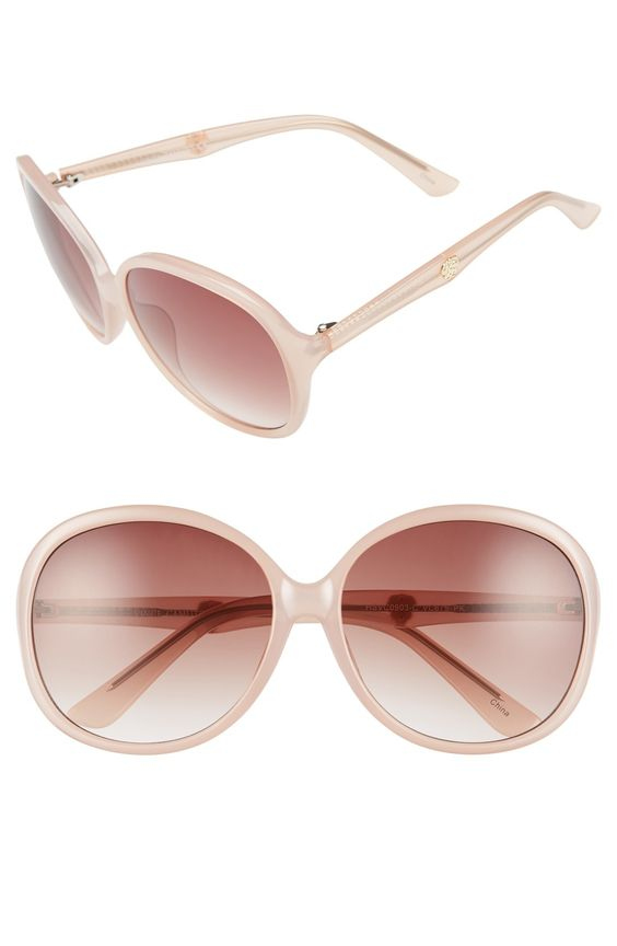 Vince Camuto 63mm Oversized Sunglasses at @nordstrom | #styleparade #vincecamuto #style #fashion #sunglasses #pink #pinksunglasses #nordstrom #eyewear