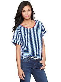 Stripe silk top