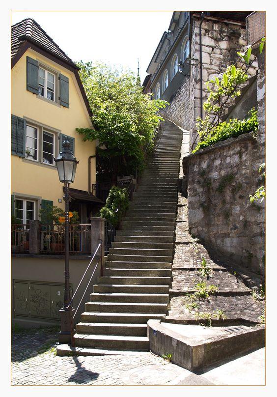 Lange Treppe in CH-Baden von THR Cadolzburg