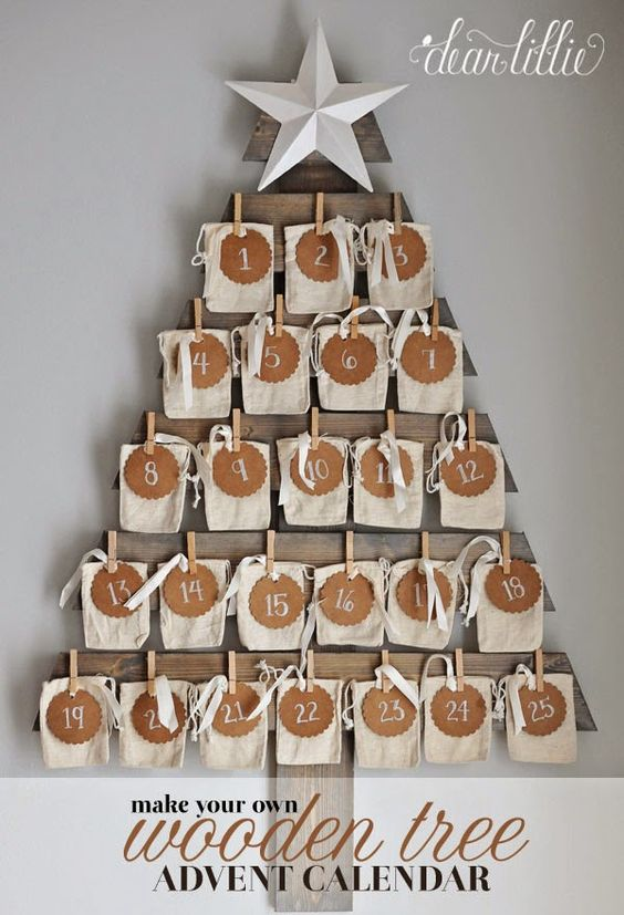 Diy Wooden Advent Calendar : Wooden tree advent and calendar on pinterest