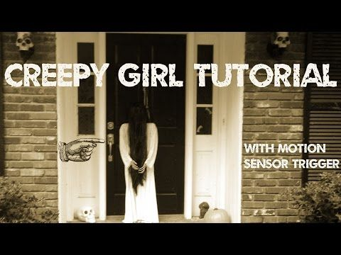 www.monstertutorials.com - How to make a creepy girl prop like Samara with motion sensor - YouTube: