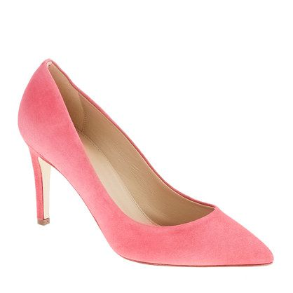 Michelle Obama's pink J.Crew Everly suede pumps