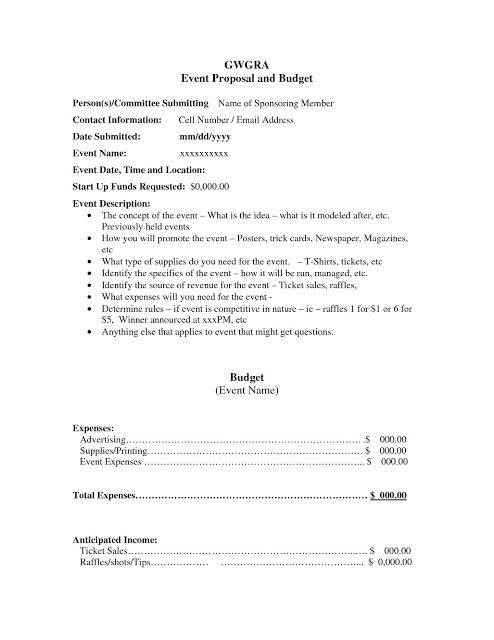 Corporate Event Proposal Example Event Proposal Event Proposal Template Event Planning Template