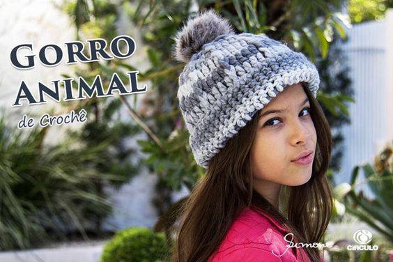 Gorro de Crochê - Animal https://www.youtube.com/watch?v=s44NJv9BGf0 #crochet #professorasimone #semprecirculo