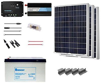 Renogy 300 Watt 12 Volt Complete Solar Panel Kit Polycrystalline With Charge Gel Ebay Link Solar Energy Panels Solar Technology Solar Panels