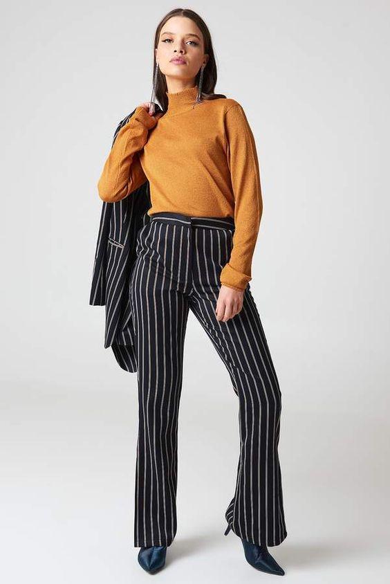 Side Slit Suit Pants