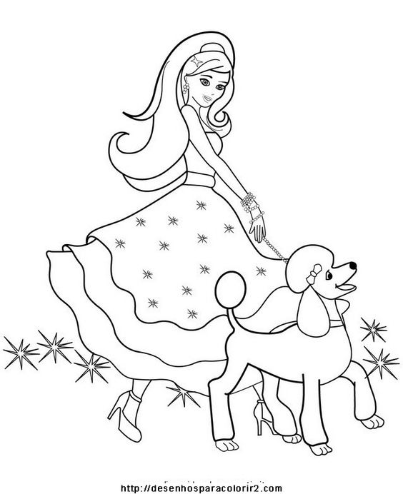 Barbie surfista Colouring Pages