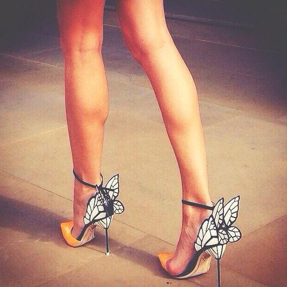 detailed butterfly heels -  Sophia Webster steps.. #Heels #ShoeAddict #Runway