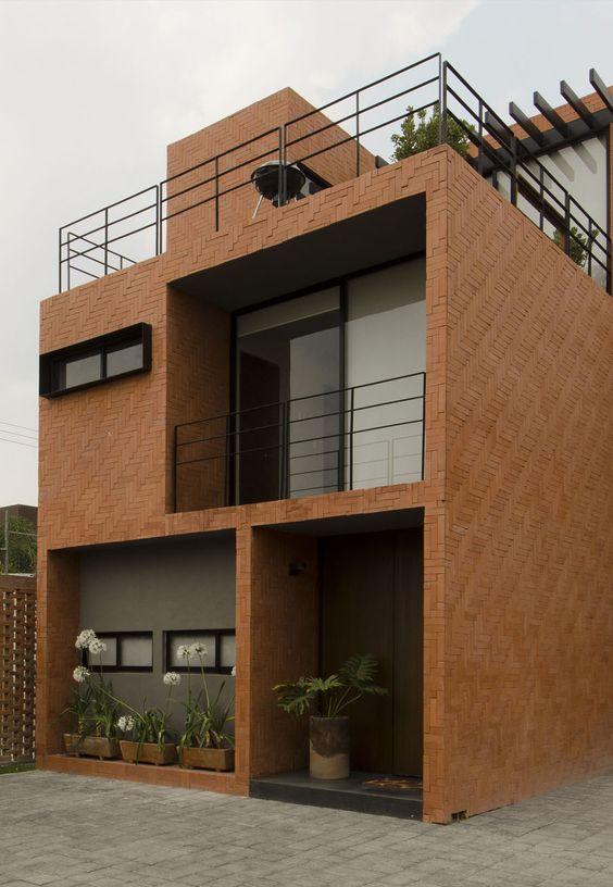 Proyecto rojo luz 2 rojoluz arquitectura 1 pinterest for Casas modernas ladrillo