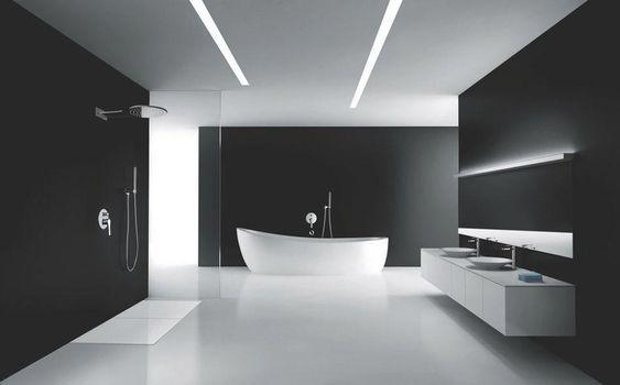 Bagno Minimal Bianco Nero Design Per Bagno Moderno Bagno