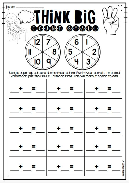 Addition Game - Think Big, Count Small   Addition games, Math and ...