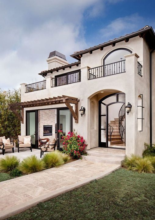 Awesome Modern Adobe House Exterior Design Ideas 70 Mediterranean House Designs Mediterranean Homes Spanish Style Homes