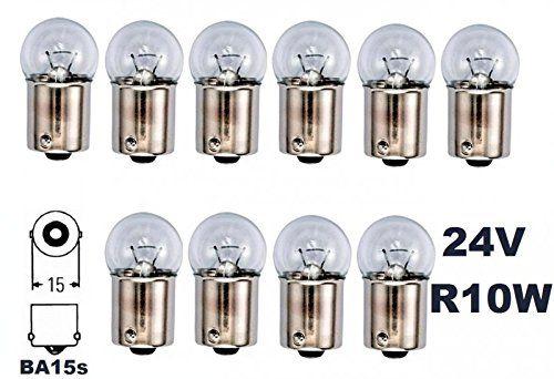 Amazon Beleuchtung Campingzubehor Gluhbirnen Gluhlampen Kfz Leuchtmittel 24 Volt 10 Stuck R 10w Ba15 Wohnzimmerfliesen Wohnzimmeruhren Gluhlampe