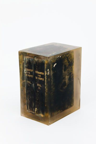 Noel Sheridan Information for the People,   1975 Mixed Media  30 x 23.2 x 16 cm  Collection Irish Museum of Modern Art Heritage Gift, 2002