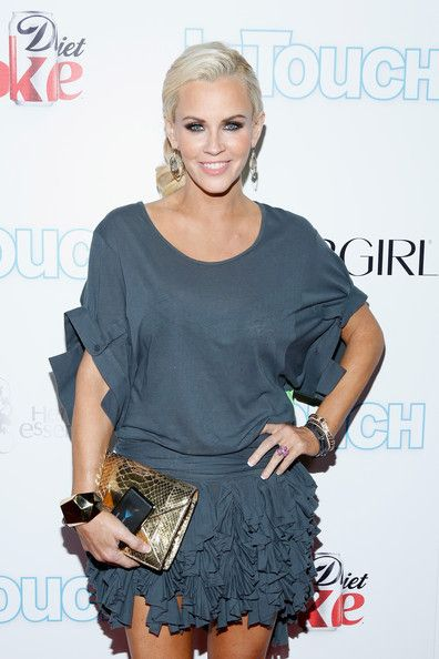 Jenny McCarthy arrives at Intouch Weekly's Icons & Idols Party at FINALE Nightclub on August 25, 2013 in New York City.