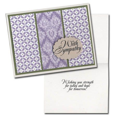 Easy Cards-Pattern Paper-with sympathy
