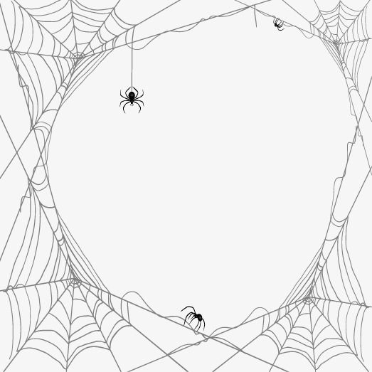 Spiders And Cobwebs Vector Design Material Spider Web Drawing Drawing Borders Vector Design
