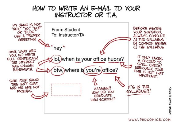 How (not) to write an email to your boss | Note to self, Student ...