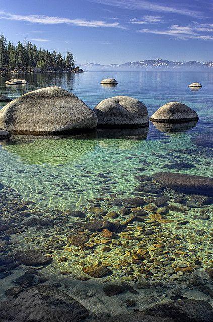 Parque de Sand Harbor State Park, Lago Tahoe, Nevada, Estados Unidos.