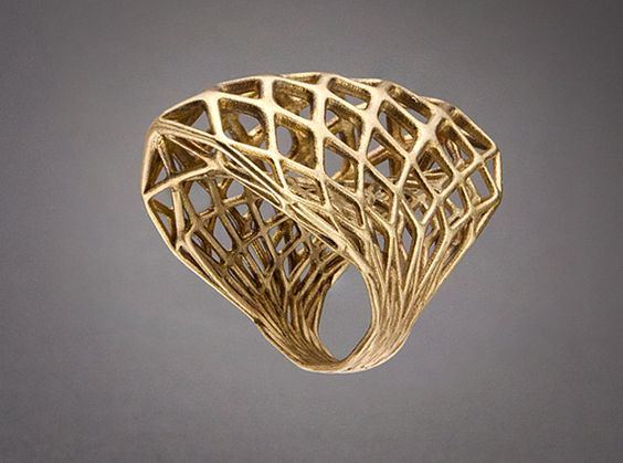 Ring 002 3d printed Jewelry Rings Raw Bronze