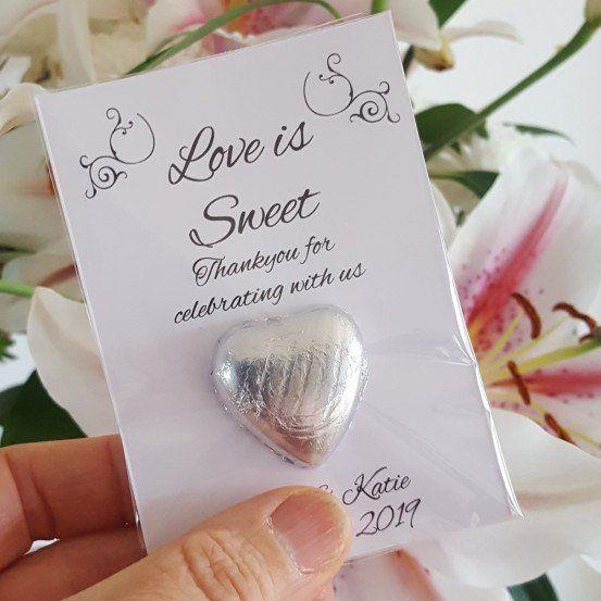 Personalised Wedding Favours \u2022 Clay Mini Hearts \u2022 Handmade Favour \u2022 Bride and Groom Initials \u2022 Rustic Wedding \u2022